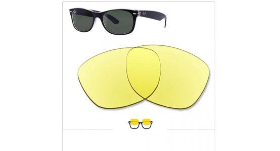 verres des lunettes Ray-Ban